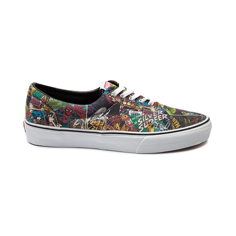 Vans era marvel comic skate shoe, black, at journeys shoes