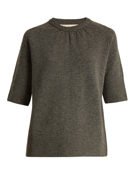 MARNI sweater back short cotton grey