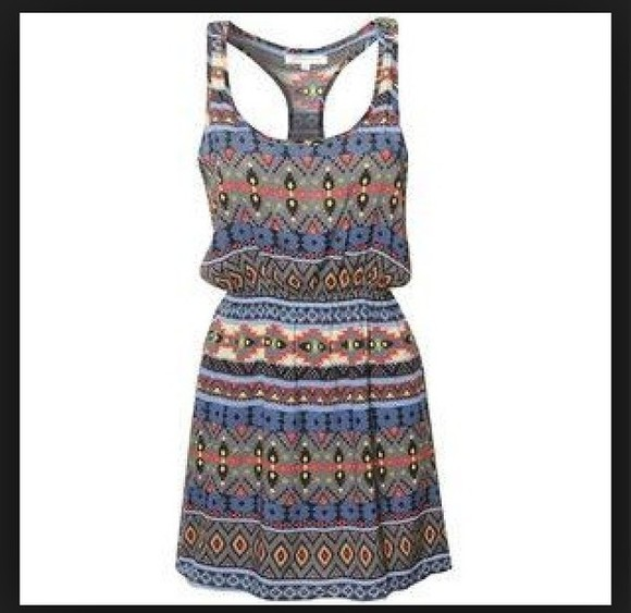 dress tribal print dress aztec dress