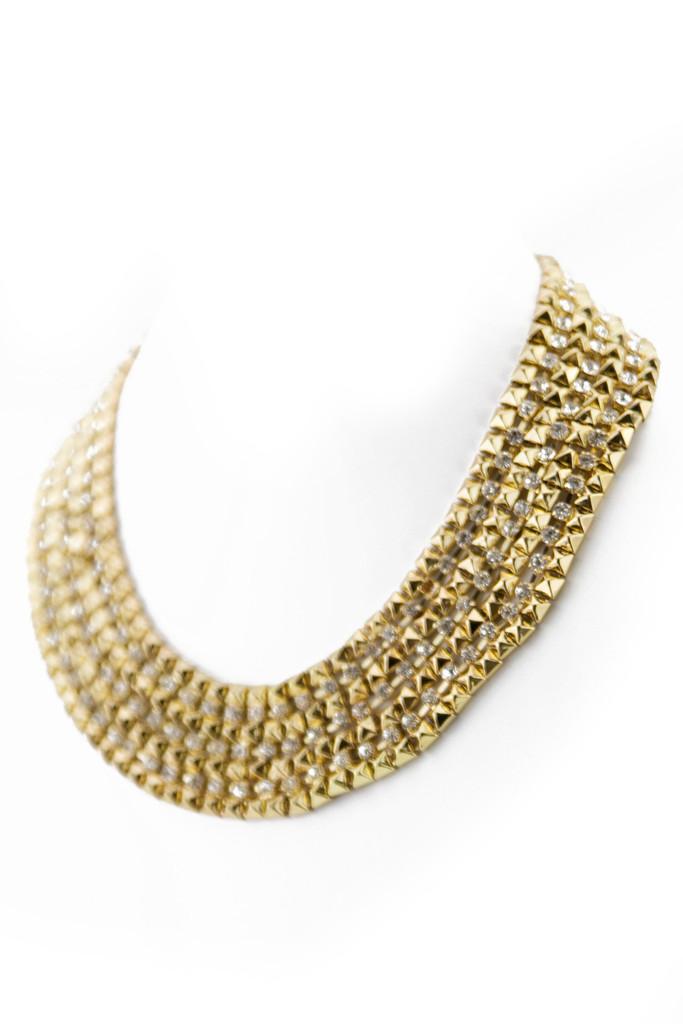 Clea stud chain necklace | haute & rebellious