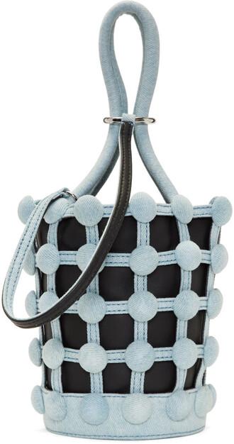 denim mini bag bucket bag blue black
