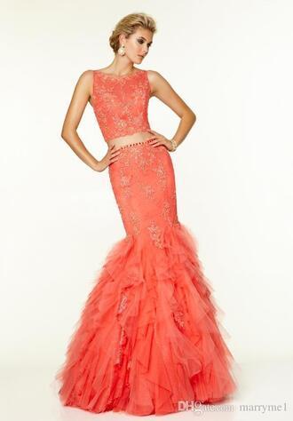 dress lace dress mermaid lace evening dress mermaid lace party dress 2 piece prom dress