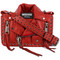 Moschino - biker jacket bag - women - leather - one size, red, leather