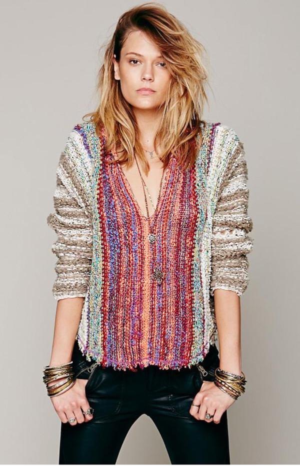 sweater woven boho chic hippie hippie