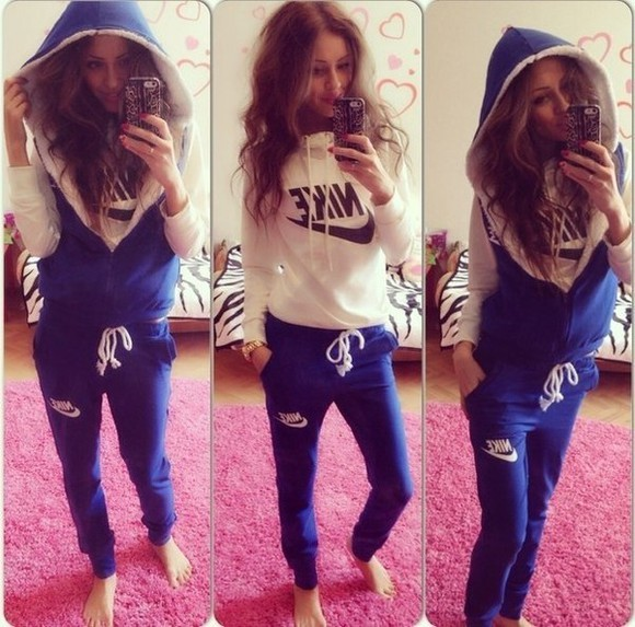 jumpsuit exactly like this winter sweater jacket nike 3 in 1 women's t-shirt pink sportsuit nike sportswear sportswear tracksuit pants blue crewneck sweater dope swag hoodie hoodie coat winter outfits hood hoodie jacket lace style fashion 3 piece suit warm long sleeves coat blue/white nike waistcoat nike sweater nike sweatpants nike blue joggers
