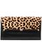 440 large envelope leopard haircalf clutch