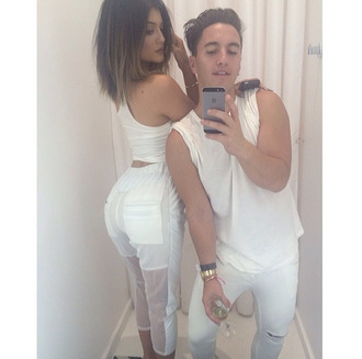 pants white all white everything instagram white pants kylie jenner