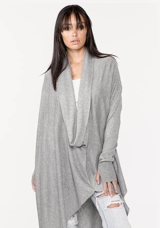 sweater cowl neck sweater california style bohemian gypsy boho casual streetstyle grey one size one size sweater cowl neck