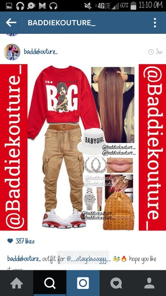 sweater biggie big blaaaze baddiekouture_ outfit outfit ideas outfit idea shoes pants