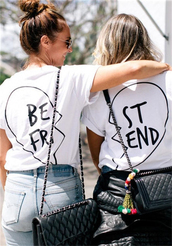 t-shirt,cute top,trendy tops,unique tops,spring tops,bff,bff shirts,outfit,outfit idea,best friend shirts,best friends top