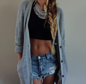 jewels necklace jewelry cool statement necklace silver necklace fashion necklace cool girl style braid hair/makeup inspo