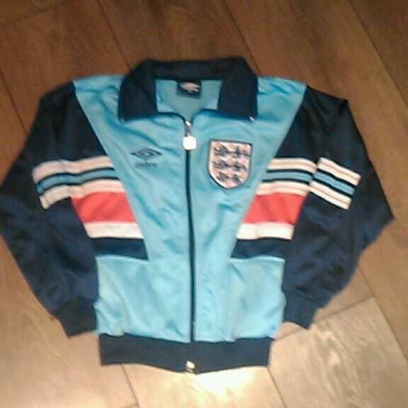 England umbro old replica football tracksuit jacket