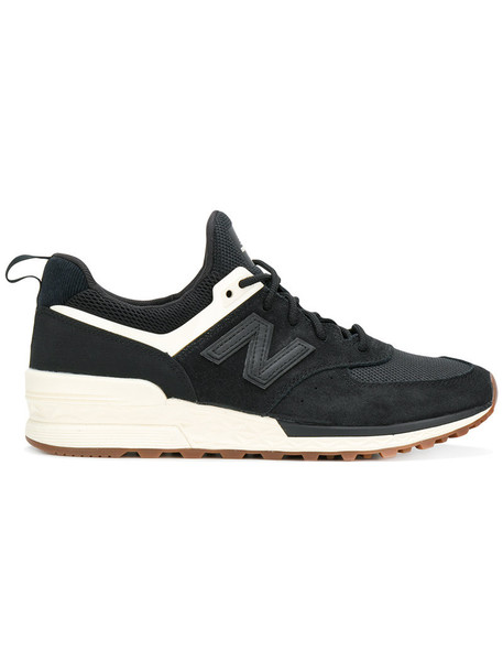 New Balance women sneakers suede black shoes