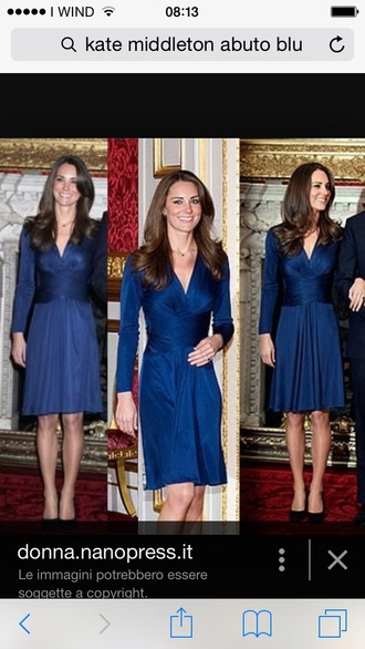dress blue dress kate middleton bon ton dress
