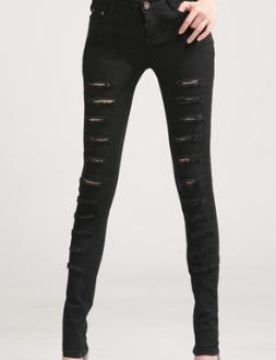 Up ripped rippes cotton pants jeans kylie jenner kim kardashian