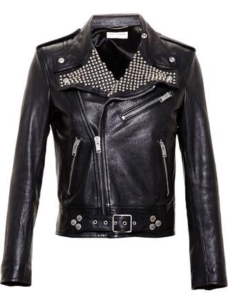 jacket biker jacket studded black