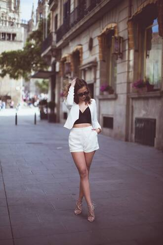 top outfit cute shorts crop crop tops monochrome black white black and white smart casual birthday white shorts summer summer outfits black crop top