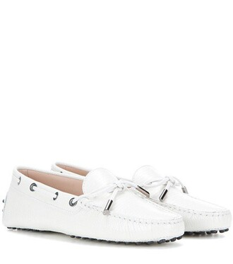 new loafers leather white shoes