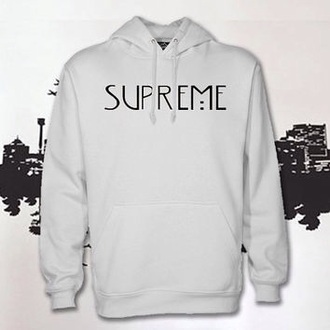 sweater white hoodie white sweater supreme sweater black letters