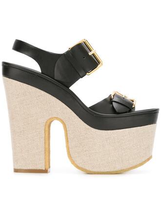 women sandals platform sandals black shoes