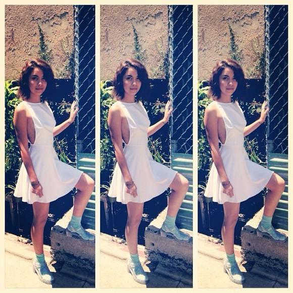 dress backless white dress black dresses