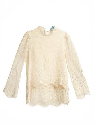 blouse lace crochet top