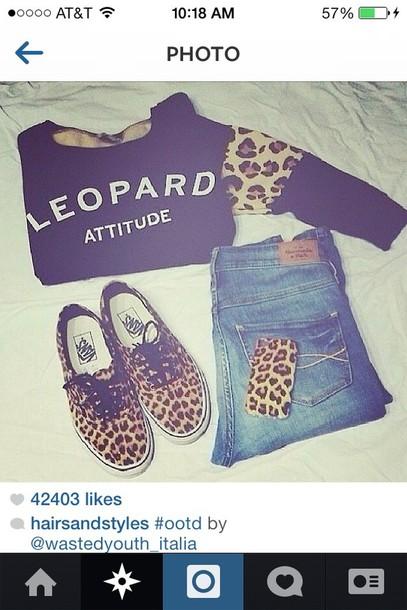blouse leopard print black long sleeves