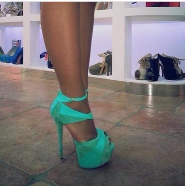 91a66dcd9171 shoes high heels pumps blue turquoise heels turquoise