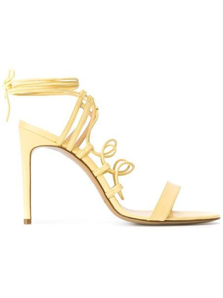 sandals yellow orange shoes