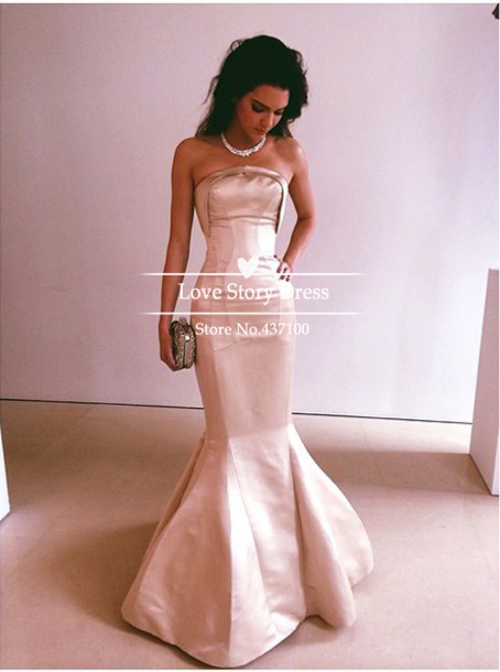 Aliexpress.com : buy womens dress evening 2014 chic strapless flesh pink satin mermaid formal evening gown long maxi dresses from reliable dress ballerina suppliers on suzhou lovestorydress co. , ltd