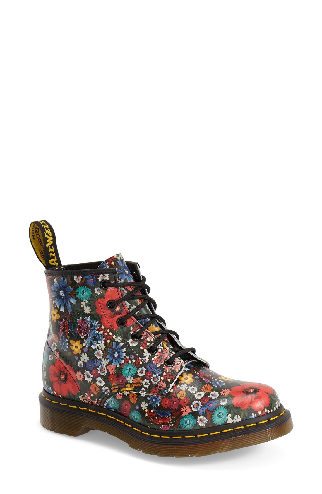 Dr. Martens  101  Floral Print Leather Boot (Women)  253278dd83