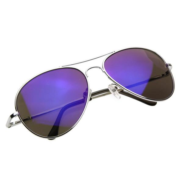 2264d85b367 Retro Revo Color Mirrored Lens Metal Aviator Sunglasses 1485