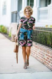 something delightful,blogger,t-shirt,dress,jacket,bag,shoes,jewels,summer outfits,camouflage dress,t-shirt dress,fall outfits