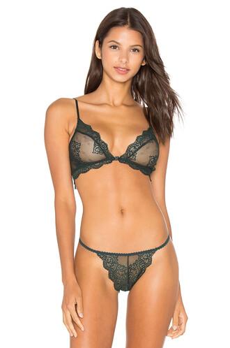 bralette lace bralette lace green underwear