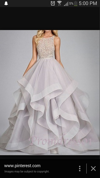 dress light purple dress lace dress organza dress layers 2015 prom dresses ball gown formal dress prom dress