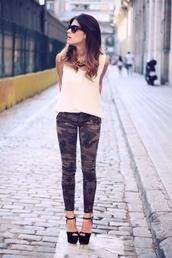 pants,khaki pants,blouse,camouflage,jeans,camo pants