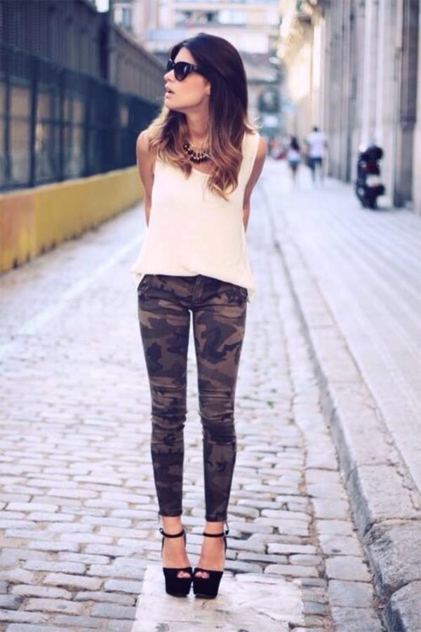 pants khaki pants blouse camouflage jeans camo pants