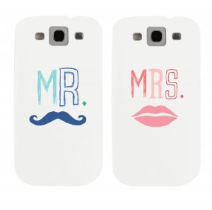 Amazon.com: mr mustache and mrs lips couples matching cell phone cases for iphone 4, iphone 5, iphone 5c, galaxy s3, galaxy s4, galaxy s5: cell phones & accessories