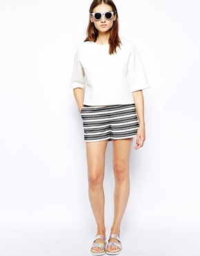 Whistles | Whistles Kirsten Shorts in Stripe at ASOS