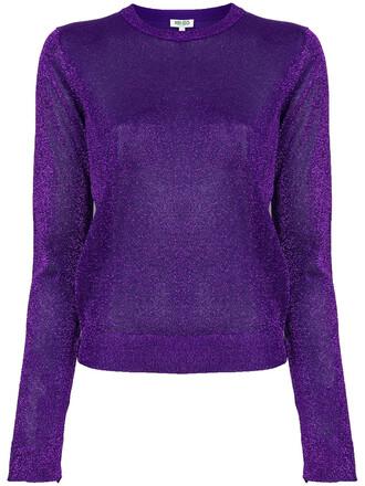 top glitter women purple knit pink