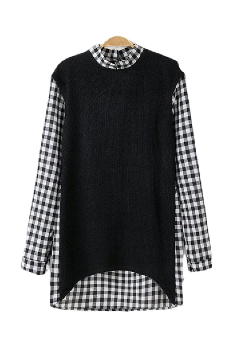 Western Lattice Stitching Long Sleeve Pullover Sweater,Cheap in Wendybox.com