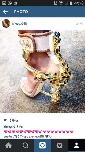 shoes gold studded heels platform high heels extravagant gold high heels nude heels rhinestones crystal