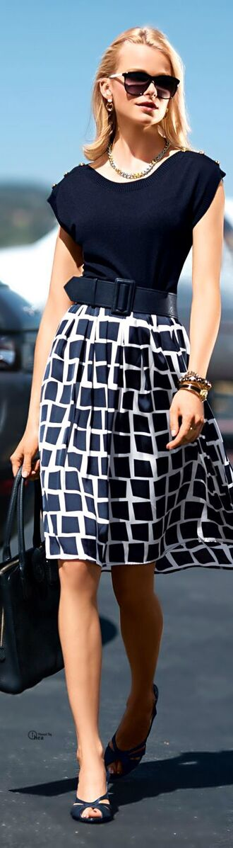 blouse office outfits office dress black skirt formal event outfit bag skirt sunglasses jewels