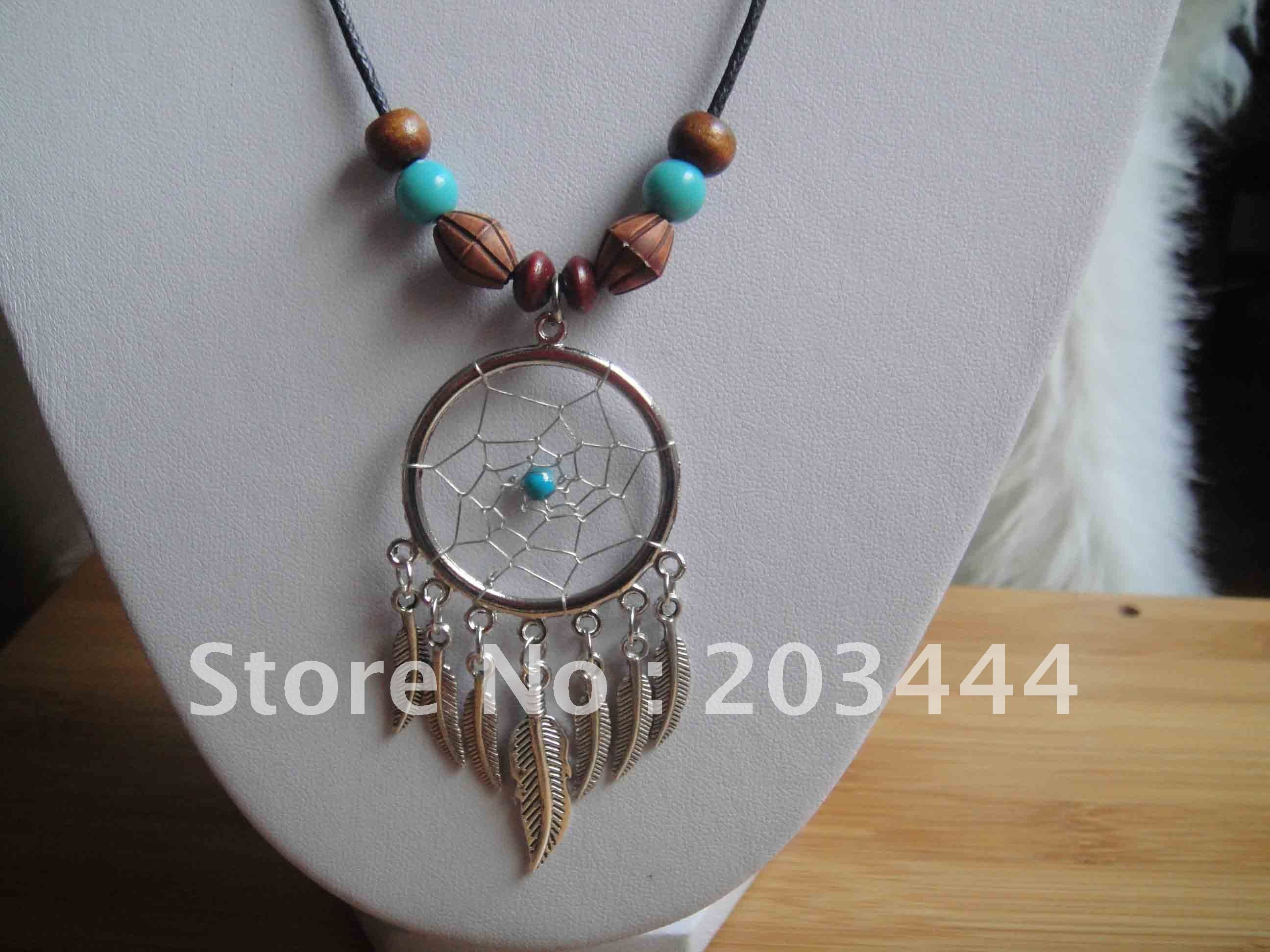 free shipping hot sale dream catcher necklace 3.5cm-in Crafts from Home & Garden on Aliexpress.com