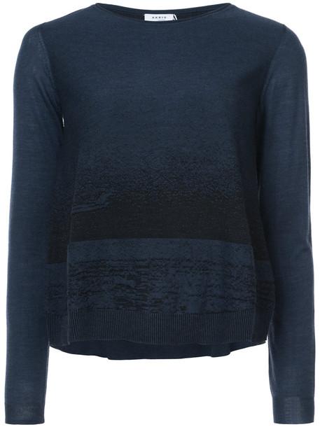 Akris punto sweater women blue wool