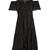 Spot fil coupé silk-blend chiffon dress