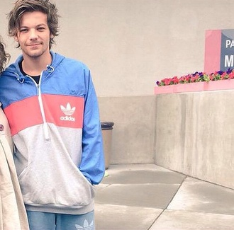 jacket louis tomlinson adidas hoodie blue menswear