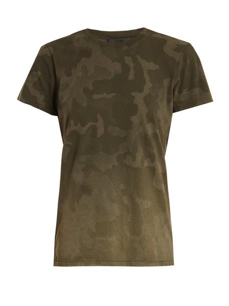 ATM t-shirt shirt cotton t-shirt t-shirt camouflage cotton print top