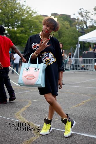 bag tote bag handbag hand bag afropunk face tote face handbag roy lichtenstein