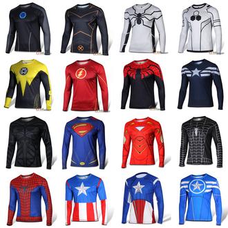 shirt cycling jersyes marvel superheroes mens shirt